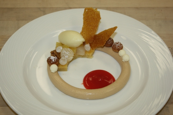 Early plated dessert test