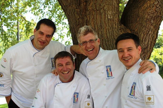 From left to righ. Andy Chlebana, Roy Pell, Stephen Durfee, and Christophe Feyt